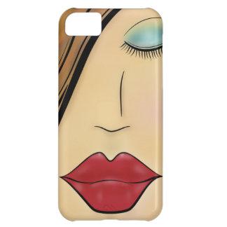 Weibliches Gesicht iPhone 5C Hülle