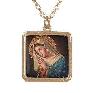 """Weibliches Halsband des Silbers """"Unser Dame """" Vergoldete Kette"""