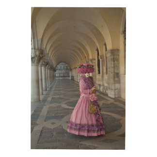 Weibliches Karnevals-Kostüm, Venedig Holzleinwand