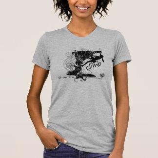 Weibliches Klettern-T-Stück T-Shirt