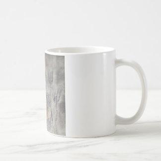 Weibliches Löwe-Zeichnen Kaffeetasse