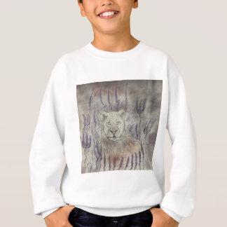 Weibliches Löwe-Zeichnen Sweatshirt