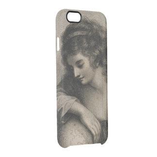 Weibliches Porträt-Vintage Frauen-Kugel romantisch Durchsichtige iPhone 6/6S Hülle