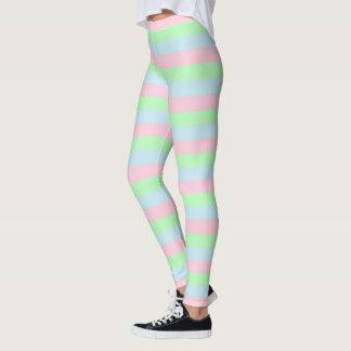 Weich blaue, rosa und grüne Streifen Leggings