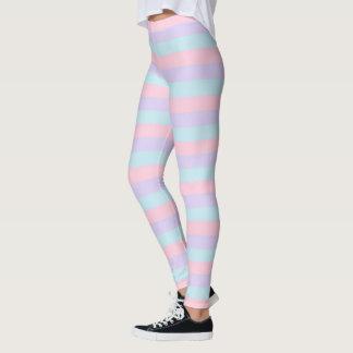 Weich blaue, rosa und lila Streifen Leggings