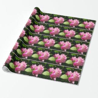 Weich gemaltes rosa Pfingstrosen-Packpapier Geschenkpapier