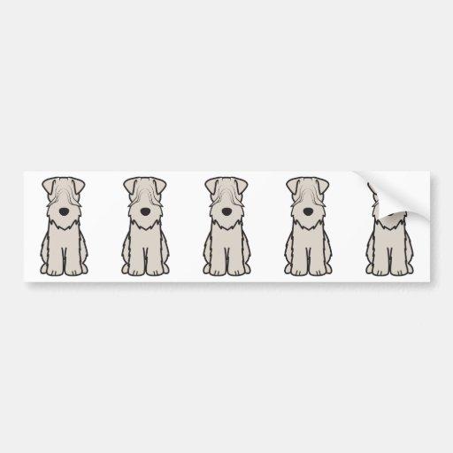 Weich überzogener Wheaten Terrier-HundeCartoon Autosticker
