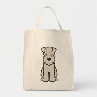 Weich überzogener Wheaten Terrier-HundeCartoon Einkaufstasche