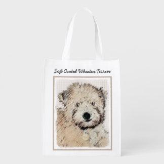 Weich überzogener Wheaten Terrier-Welpe Wiederverwendbare Einkaufstasche