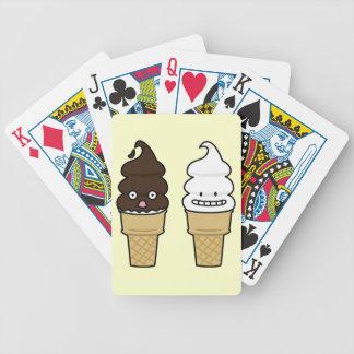Weiche Aufschlags-Eistüteoblate-Schokoladenvanille Bicycle Spielkarten