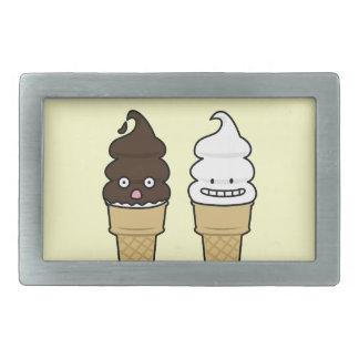 Weiche Aufschlags-Eistüteoblate-Schokoladenvanille Rechteckige Gürtelschnalle