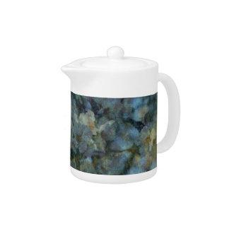 Weiche blaue Obstgartenimpressionist Teekanne