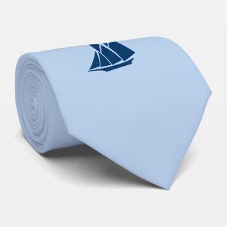 Weiche blaue Schooner-Krawatte Bedruckte Krawatten