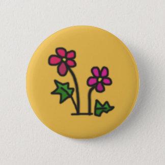 Weiche Blume Runder Button 5,7 Cm