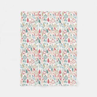 Weiche Farbeweihnachtsverzierungs-Musterdecke Fleecedecke