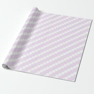 Weiche Flieder und Weiß-Streifen-Packpapier Geschenkpapier
