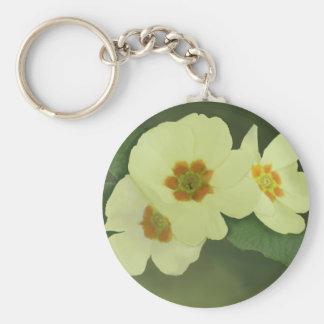 Weiche gelbe Primel-Blumen Standard Runder Schlüsselanhänger