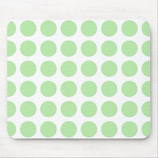 Weiche grüne Tupfen Mousepad