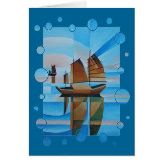 Weiche Himmel, Cerulean Meere und Cubist-Kram Karte