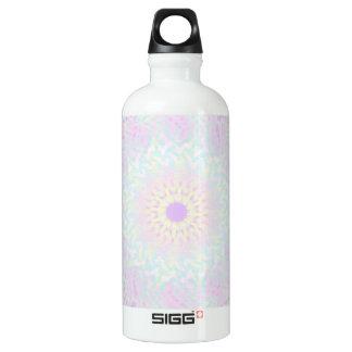 Weiche LiebepastellMandala (groß) Aluminiumwasserflasche