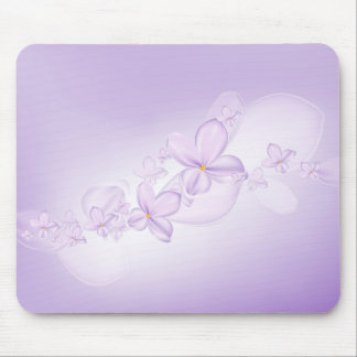 Weiche lila Blumen-Mausunterlage Mousepad