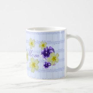 Weiche lila u. gelbe kaffeetasse