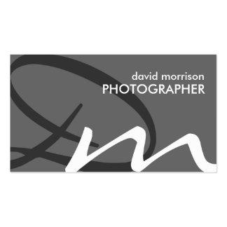 Weiche Monogramm-Visitenkarten