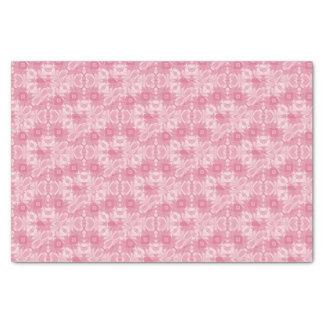 Weiche rosa abstrakte Herzen und Diamanten Seidenpapier