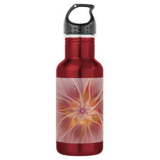 Weiche rosa Blumenabstrakte moderne TraumBlume Edelstahlflasche