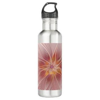 Weiche rosa Blumenabstrakte moderne TraumBlume Trinkflasche