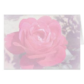 Weiche rosa Dunst-Rose Karte