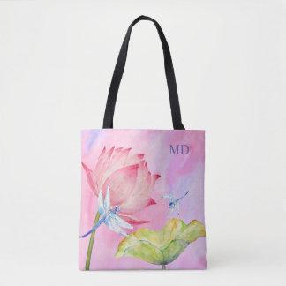 weiche rosa Mode der Lotoslibellen kundengerecht Tasche