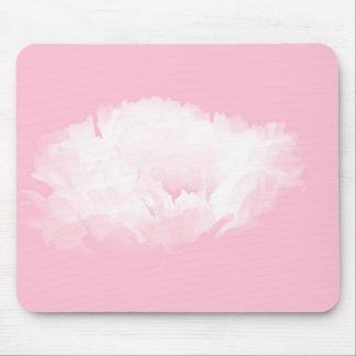 Weiche rosa weiße Pfingstrose - mit Blumen Mauspad