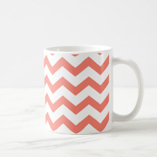 weiche rosa Zickzack Streifen Kaffeetasse