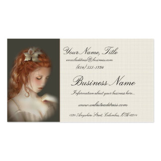 Weiche schöne Redheaded Frauen-Visitenkarten