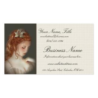 Weiche schöne Redheaded Frauen-Visitenkarten Visitenkarten