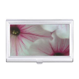 Weiche und empfindliche rosa Petunien Visitenkarten Dose