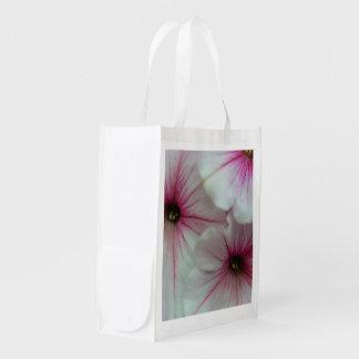 Weiche und empfindliche rosa Petunien Wiederverwendbare Einkaufstasche
