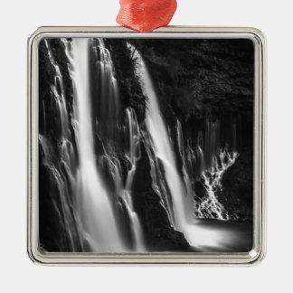 Weiche und glatte Burney Fälle Quadratisches Silberfarbenes Ornament