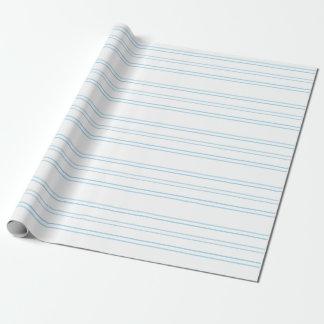 Weicher blauer Streifen auf Weiß, Einpackpapier