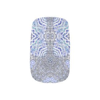 Weicher blauer Tierdruck Minx Nagelkunst