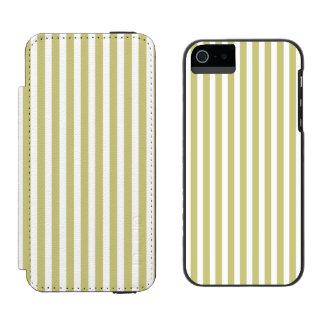 Weicher Farn-grünes und weißes Incipio Watson™ iPhone 5 Geldbörsen Hülle