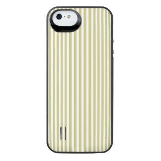 Weicher Farn-grünes und weißes iPhone SE/5/5s Batterie Hülle