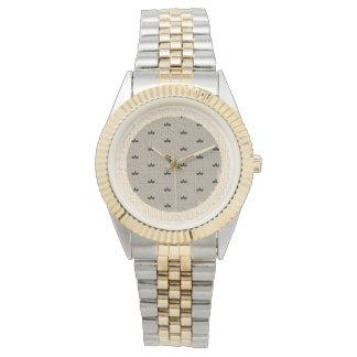 Weicher Herbstlaub und Leinwand-Uhr Armbanduhr
