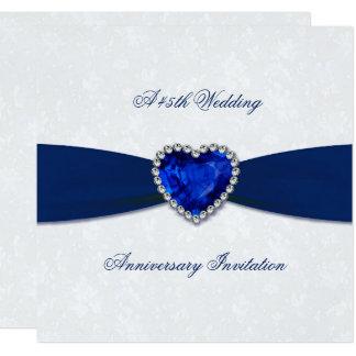 Weicher Hochzeitstag des Damast-45. laden ein Karte