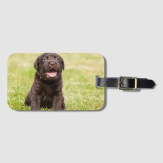 Weicher Hund des Welpen Gepäckanhänger