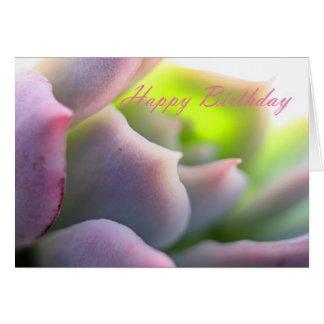 Weicher malvenfarbener Succulent - alles- Gute zum Karte