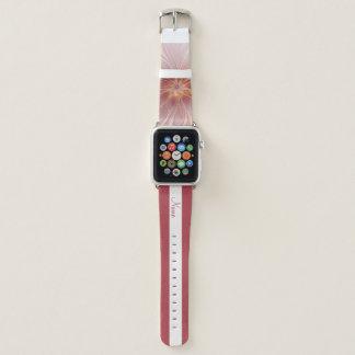 Weicher rosa Blumenabstrakter Blumen-Traumname Apple Watch Armband