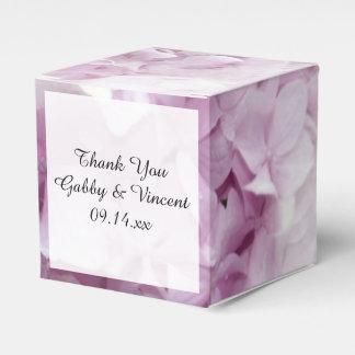 Weicher rosa Hydrangea-BlumenGastgeschenk Geschenkschachtel