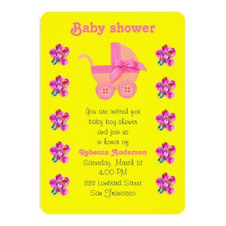 Weicher rosa Kinderwagen, Rosa, lila genähte Karte
